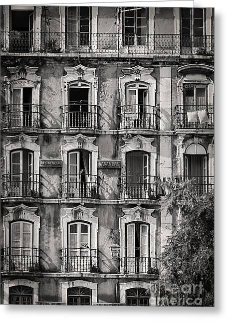 Buildings Greeting Cards - Windows and Balconies 1 Greeting Card by Rod McLean