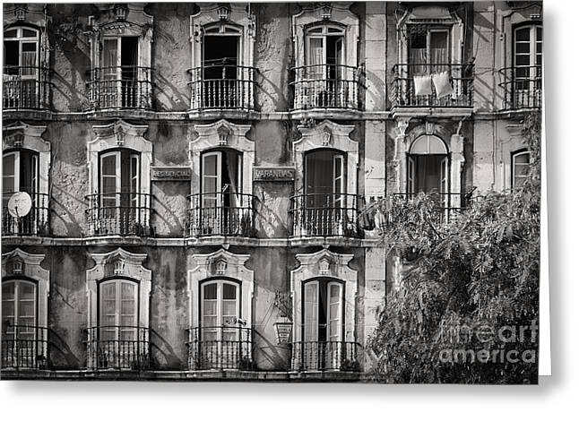 Buildings Greeting Cards - Windows and Balconies 2 Greeting Card by Rod McLean