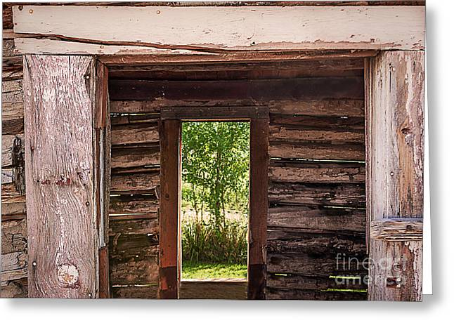 Historical Images Greeting Cards - Windows and Doors Greeting Card by Janice Rae Pariza