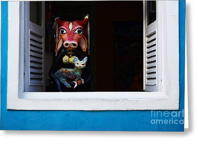 Windows And Doors Olinda Brazil Greeting Card by Bob Christopher