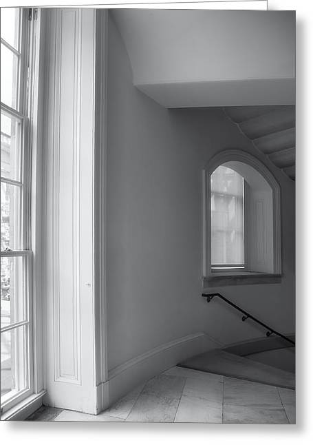 D.w Greeting Cards - Windows And Stairway Greeting Card by Steven Ainsworth