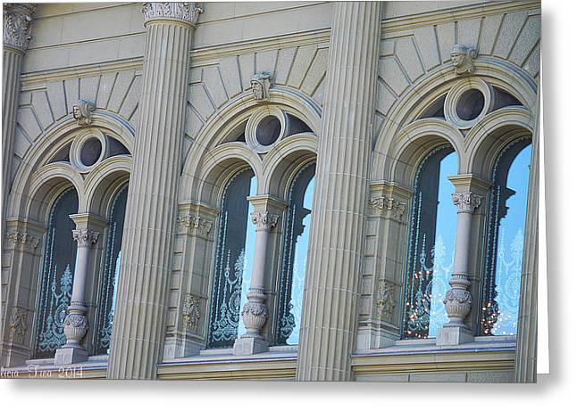 Berne Canton Greeting Cards - Windows Detail Greeting Card by Felicia Tica