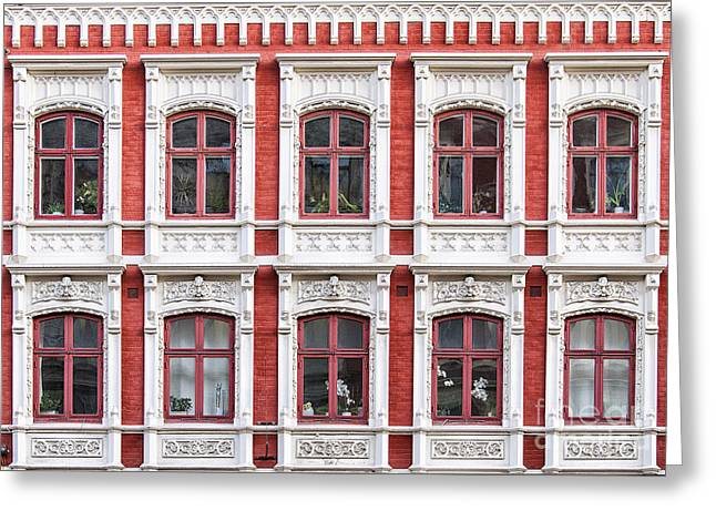 Malmo Greeting Cards - Windows Facade Greeting Card by Antony McAulay