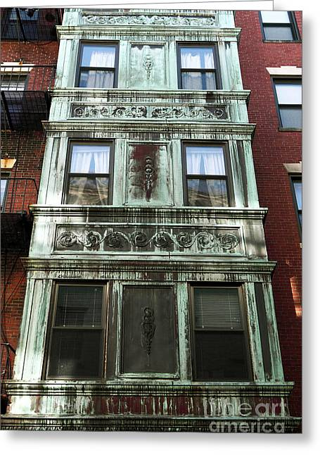 Americana Pictures Greeting Cards - Windows in Boston Greeting Card by John Rizzuto