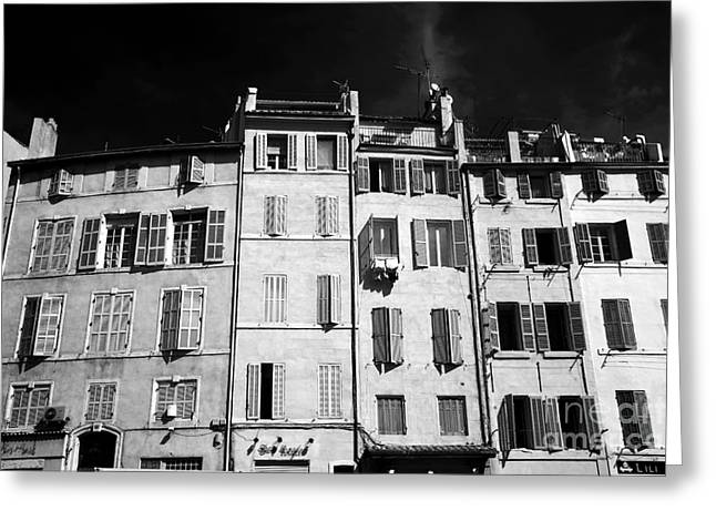 Ir Photography Greeting Cards - Windows in Marseille Greeting Card by John Rizzuto