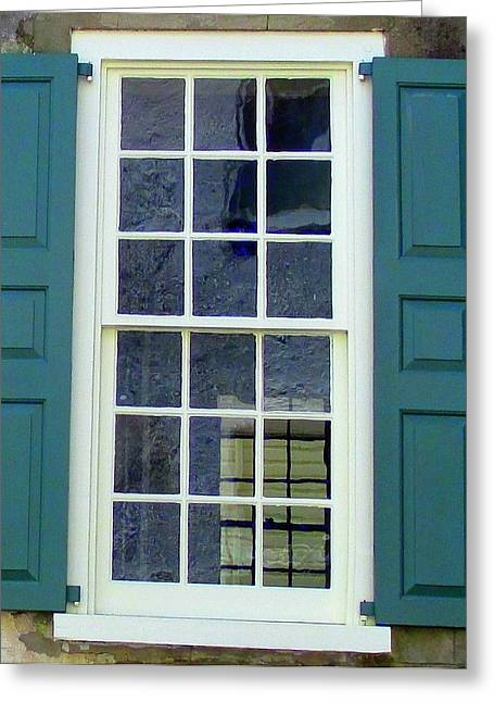 Historic Architecture Greeting Cards - Windows Of Charleston 5 Greeting Card by Randall Weidner