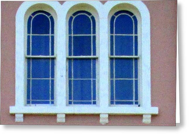 Historic Architecture Greeting Cards - Windows Of Charleston 8 Greeting Card by Randall Weidner