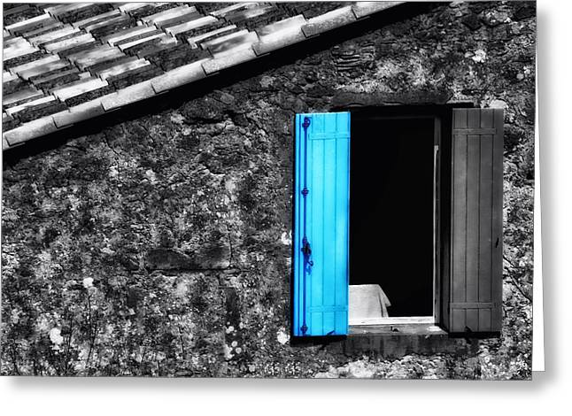 Luz Greeting Cards - Windows of St Jean de Luz in France Greeting Card by Mountain Dreams