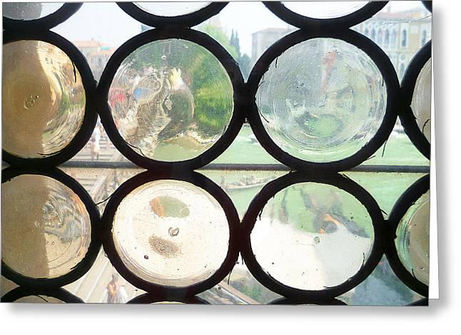 Windows Of Venice View From Academy Of Art Greeting Card by Irina Sztukowski