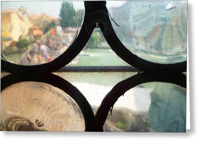 Windows Of Venice View From Art Academy Greeting Card by Irina Sztukowski