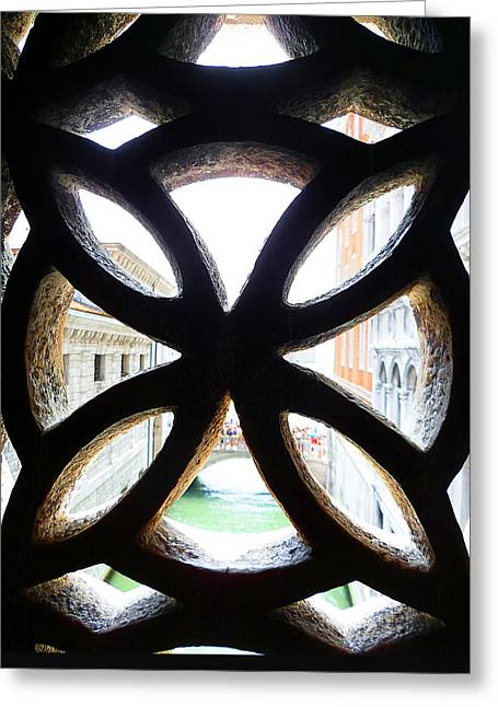 Kids Books Greeting Cards - Windows Of Venice View From Palazzo Ducale Greeting Card by Irina Sztukowski