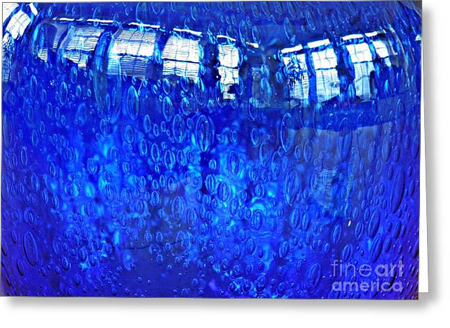 Raw Photography Greeting Cards - Windows Reflected on a Blue Bowl Greeting Card by Sarah Loft