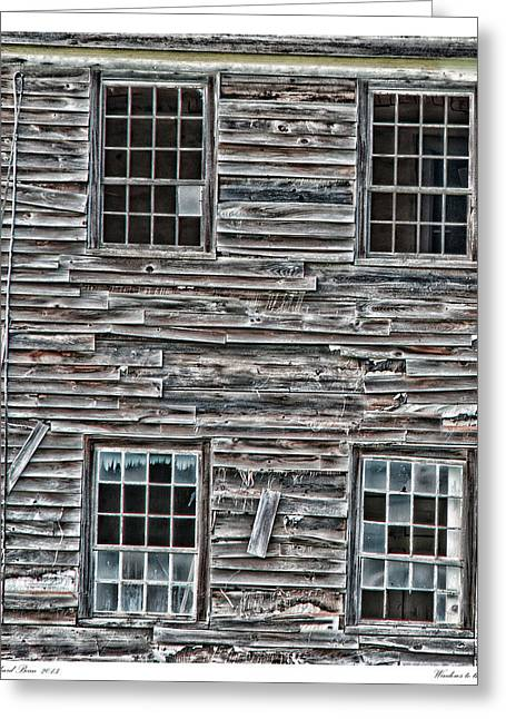 Old Maine Houses Greeting Cards - Windows to the Past Greeting Card by Richard Bean