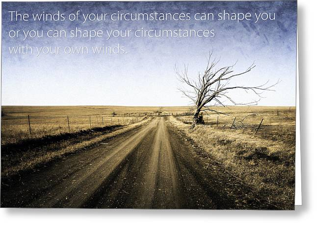 Winter Roads Digital Art Greeting Cards - Winds of Circumstance Greeting Card by Eric Benjamin