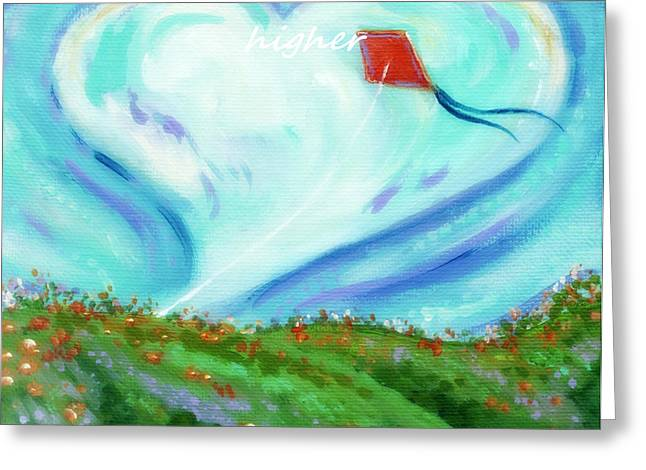 Inner Self Paintings Greeting Cards - Winds Of The Heart Greeting Card by MarLa Hoover