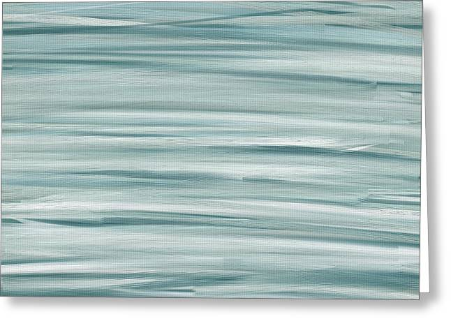 Light Blue Gray Greeting Cards - Winds Whisper Greeting Card by Lourry Legarde