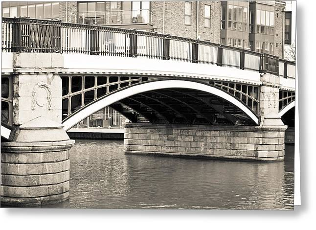Historic England Greeting Cards - Windsor Bridge Greeting Card by Tom Gowanlock
