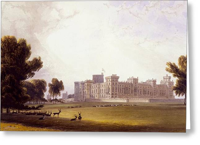 Windsor Castle From The South End Greeting Card by William Daniell
