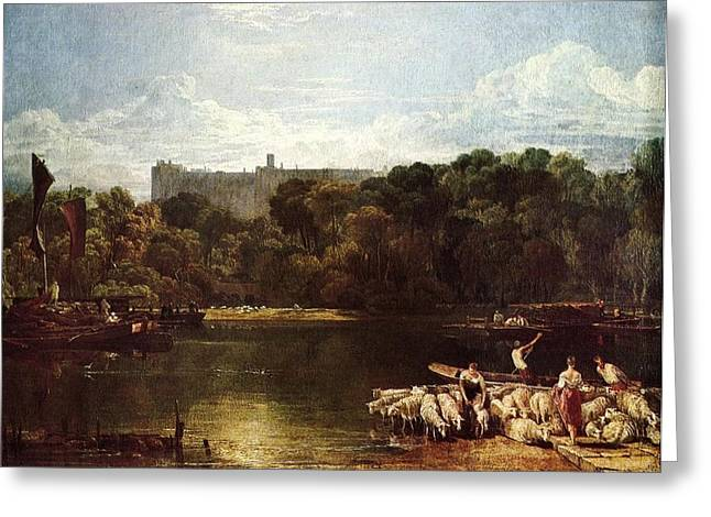 Jmw Greeting Cards - Windsor castle from the Thames 1804 Greeting Card by Joseph Mallord William Turner