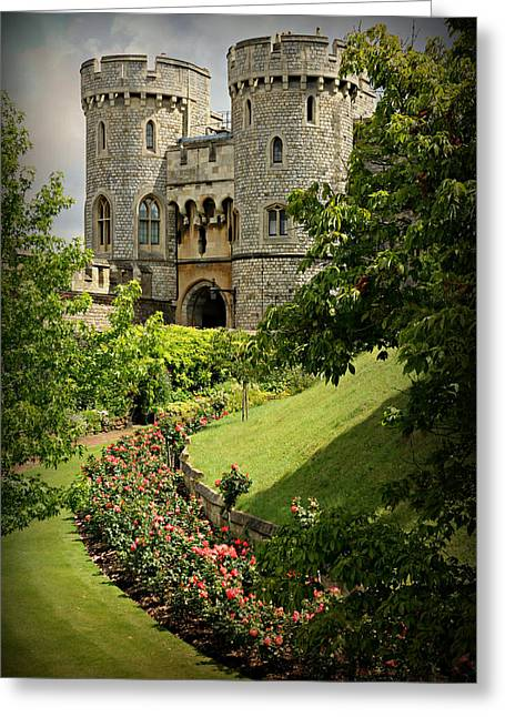 Recently Sold -  - Stones Greeting Cards - Windsor Castle Gardens Greeting Card by Stephen Stookey