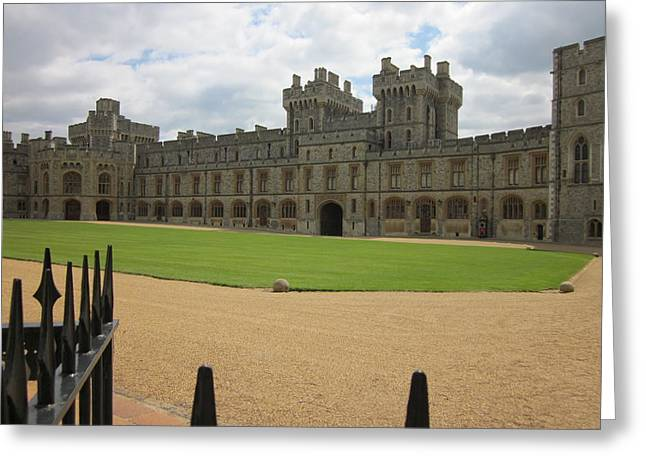 Castle Pyrography Greeting Cards - Windsor Castle Greeting Card by Thomas Koenen