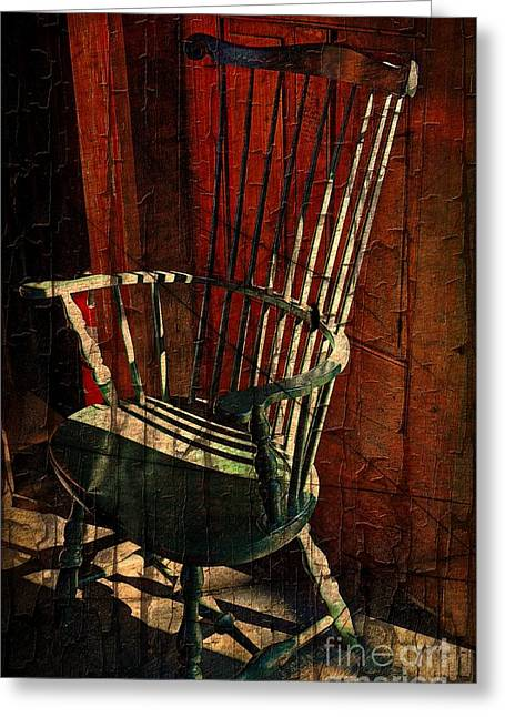 Old Maine Houses Greeting Cards - Windsor Chair  Greeting Card by Marcia Lee Jones