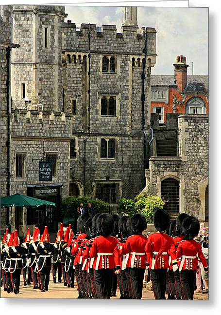 British Royalty Greeting Cards - Windsor Parade Greeting Card by Stephen Stookey