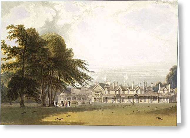 Feeding Greeting Cards - Windsor Park The Royal Lodge Greeting Card by William Daniell