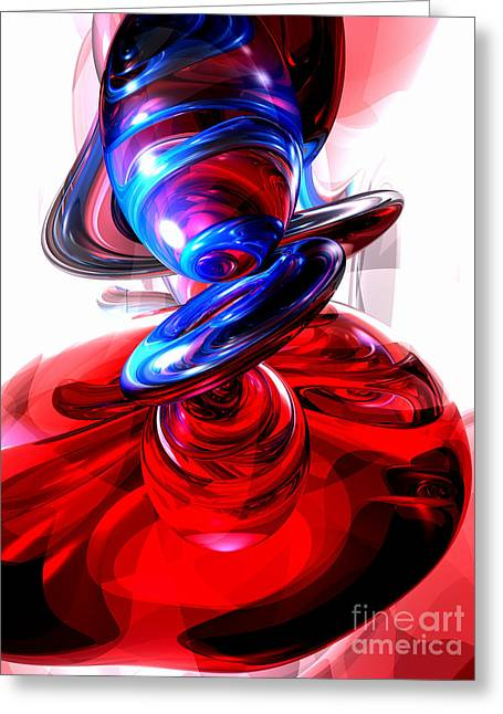 Destructive Greeting Cards - Windstorm Abstract Greeting Card by Alexander Butler