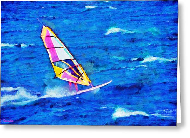G.rossidis Greeting Cards - Windsurf Greeting Card by George Rossidis