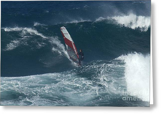 Surfing Photos Greeting Cards - Windsurfer 2 Maui Greeting Card by Bob Christopher