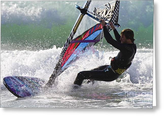 Surf Lifestyle Greeting Cards - Windsurfer Greeting Card by Heiko Koehrer-Wagner