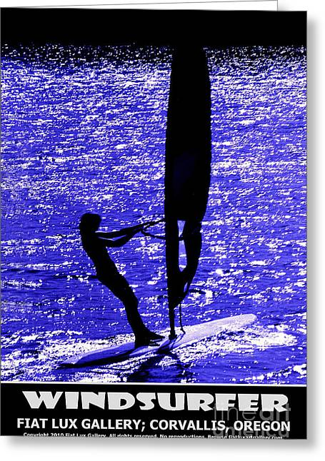 Boardsailing Greeting Cards - Windsurfer Greeting Card by Mike Moore FIAT LUX