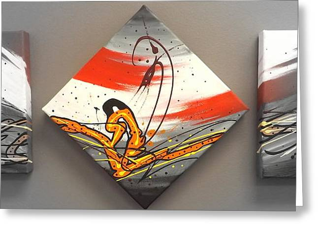 Windsurfer Spotlighted Greeting Card by Darren Robinson