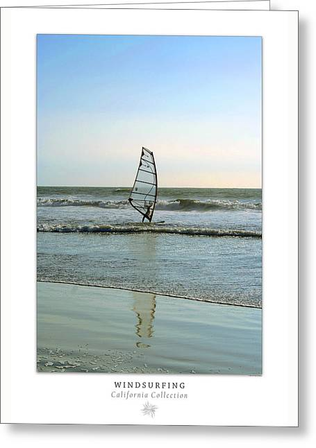 Wind Surfing Art Greeting Cards - Windsurfing Art Poster - California Collection Greeting Card by Ben and Raisa Gertsberg