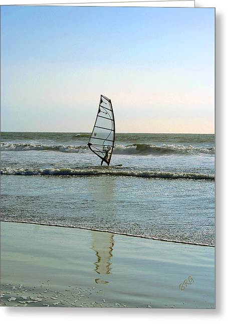 Windsurfing Greeting Card by Ben and Raisa Gertsberg