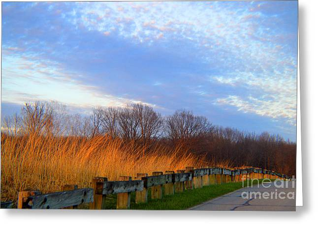 Moral Greeting Cards - Windswept Clouds Greeting Card by Tina M Wenger