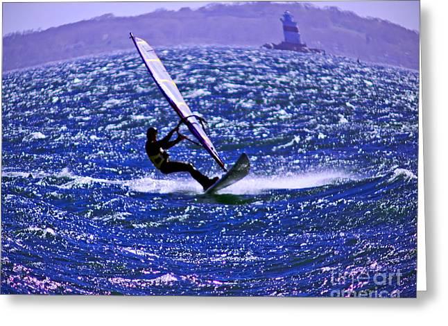 Ocean Art Photos Greeting Cards - Windswept Greeting Card by Joe Geraci