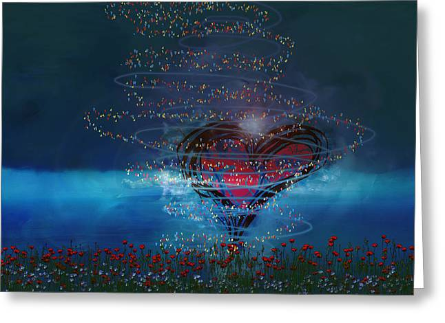Spirtual Greeting Cards - Windswept Love Greeting Card by Linda Sannuti