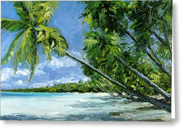 Stacy Vosberg Greeting Cards - Windswept Palm Greeting Card by Stacy Vosberg