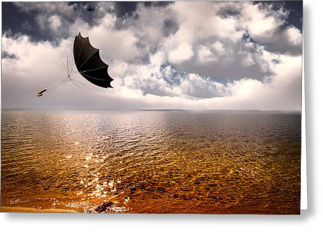 Windy Greeting Card by Bob Orsillo