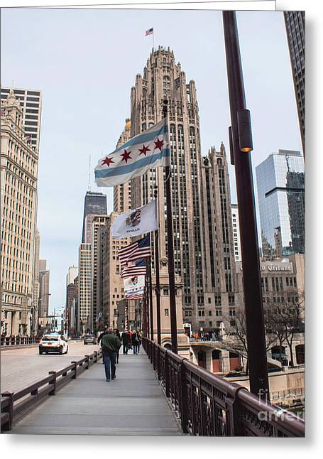 Magnificent Mile Greeting Cards - Windy City Greeting Card by Arlene Carmel
