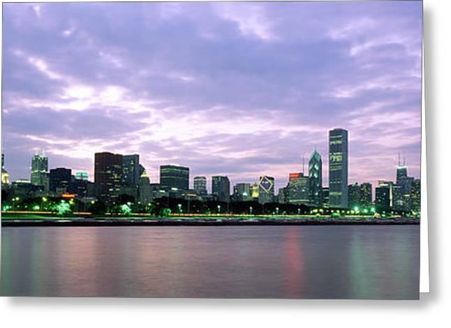 Night Shots Greeting Cards - Windy City Greeting Card by Jon Neidert