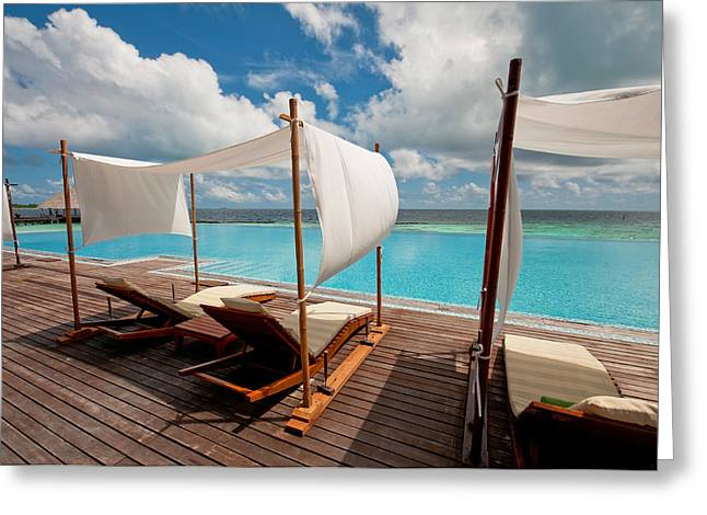 Maldives Greeting Cards - Windy Day at Maldives Greeting Card by Jenny Rainbow