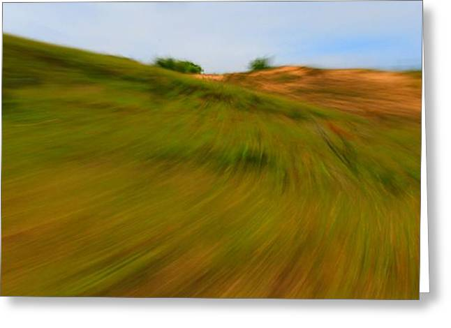 Blue Green Wave Greeting Cards - Windy Day At Sleeping Bear Dunes Greeting Card by Dan Sproul