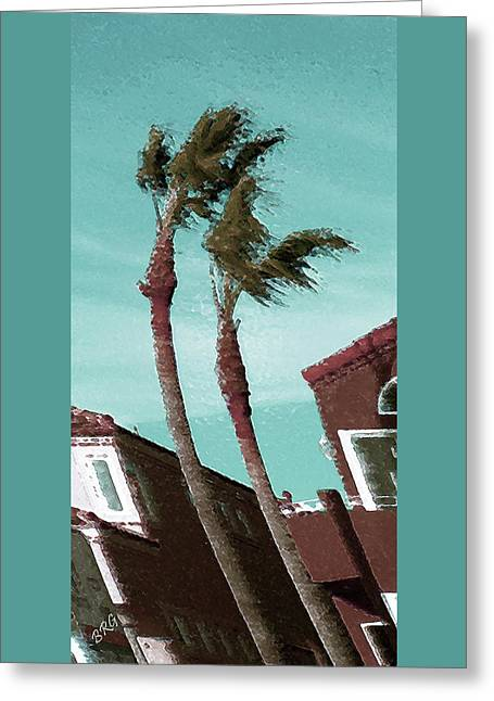 Breezy Greeting Cards - Windy Day By The Ocean  Greeting Card by Ben and Raisa Gertsberg