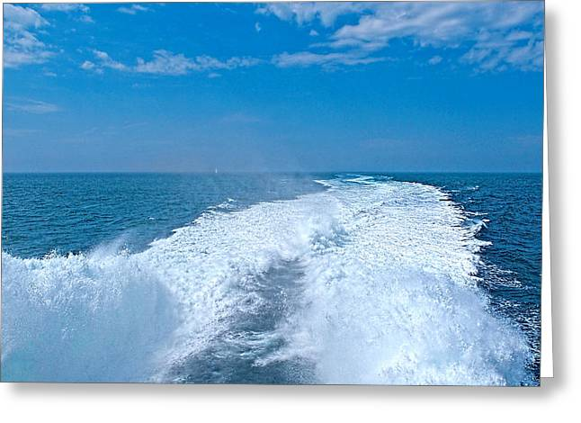 Sunny Decor Greeting Cards - Windy Day On The Ocean Greeting Card by Gill Billington
