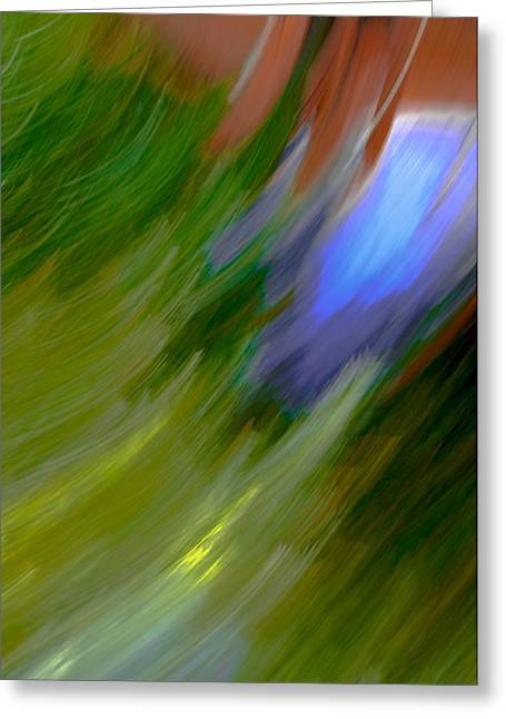 Cheap Abstract Art Greeting Cards - Windy Maginations - Abstract Art Greeting Card by Laria Saunders