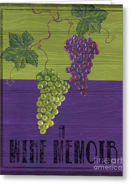 Purple Grapes Greeting Cards - Wine and Grapes Greeting Card by Paul Brent