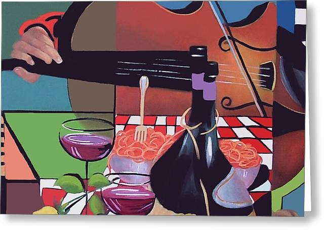 Wine And Roses Greeting Card by Anthony Falbo